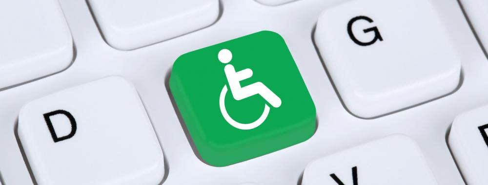 Disability icon on keyboard